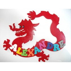 Plaque de porte ado le Dragon