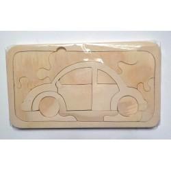Puzzle en bois coccinelle