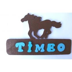 Plaque prénom cheval