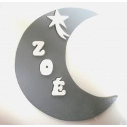 Plaque de porte Lune
